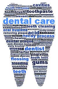 dental care word cloud