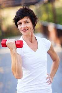 woman exercizing