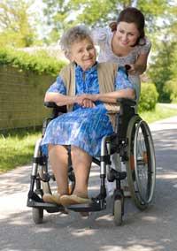 Woman in a wheelchair