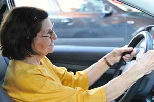 senior driving car